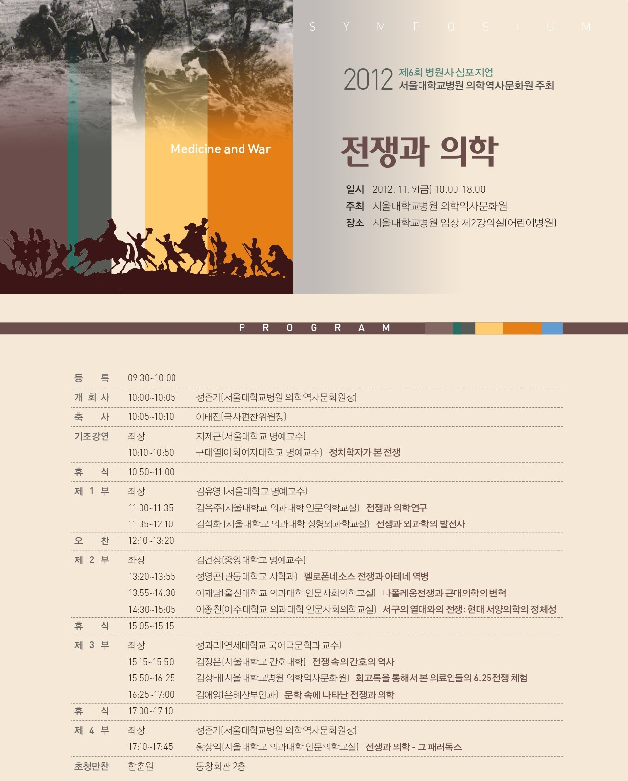 제6회 병원사 심포지엄(2012)